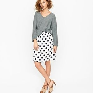 J. Crew Big-Shot Polka Dot Circle A-Line Skirt 6